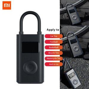 Xiaomi Mijia Elektrikli Şişirme Pompası Taşınabilir Akıllı Dijital Lastik Scooter Bisiklet Motosiklet Scooter M365 Pro Araba Futbol Için Basınç Algılama