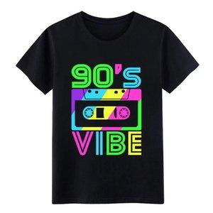 questo è il mio 90s vibe tee '80 '90 partito uomini della maglietta T su misura camicia rotonda Collare Outfit camicia sottile Interessante