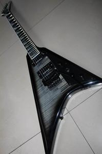 Бесплатная доставка Оптовые Джексон Randy Rhoads Flying V Left Handed В Charcoal Выброс Guitarra 111030