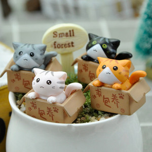 Cute Mini Cat Ornament Garden kitten Ornament Gift For Kids children baby room Decoration toy Miniature Figurines home decor 1PC