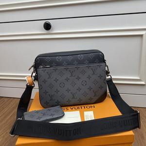 LOU1S VU1TTON M69443 Pochette Трио из натуральной кожи женщина твист сумки посыльного плечо мешка кармана Тотализаторы Сумки Key бумажники