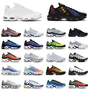 nike air max plus tn Zapatillas de running Air Max Tn Plus SE Just Do it triple negro blanco Shark Hyper Blue Spray Paint Scream Green hombre entrenador zapatillas deportivas