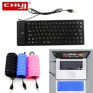 Chyi neue faltbare Silikon-Tastatur USB wasserdicht verdrahtete Silikon Flexible Soft-Roll-Up-Tastatur für PC Laptop Notebook