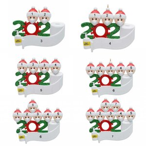 DHL 3-7 dias a Festa Aniversários Natal Quarentena US Decoração do presente Família de produtos personalizada de 4 ornamento Pandemic social Distanciamento