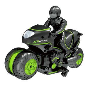 2.4G Side Stunt Motorrad 360 ° Rotating Drift Hochgeschwindigkeitsseite Travel Stunt-Fernbedienung Motorrad-Spielzeug-Modell Auto-Spielzeug der Kinder