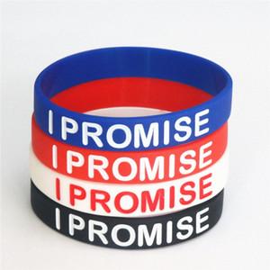 100шт Баскетбол Спорт I Promise Силиконовый браслет питания Группы Энергия Браслеты браслеты оптовой продажи ювелирных изделий SH053 60MK #