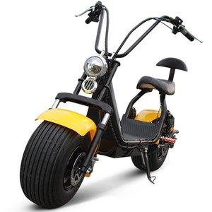 Harley voiture électrique 1500W forte moteur 60V batterie au lithium 12AH Voyage adulte 18 pouces pneu large double choc scooter électrique