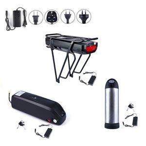 Ebike Lithium Battery 36V 48V Sumsang celular com carregador para meados Motor 250W 500W 750W 1000W bafang mediana Kits bicicleta elétrica