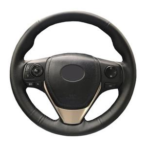 Artificial couro de direcção do carro trança de rodas para Toyota RAV4 2013-2016 Toyota Corolla 2014-2016 Scion / Custom fez cover Steering
