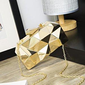New-Frau Abendbeutel Gold-Glittered Handtaschen Geldbörse Hochzeit Geldbörse Partei-Bankett-Mädchen Schulter