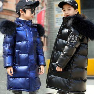 2020 Fashion Girls jaquetas Quente Casaco de Pele Kid Adolescente Grosso Casacos Para Cold Winter Snowsuit bebê Crianças de Down Parkas