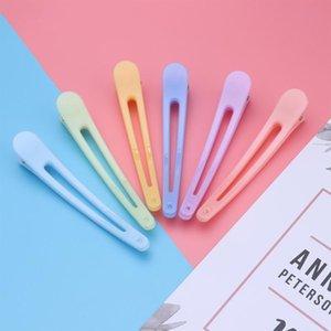 6pcs Résistance à la chaleur Barrettes Kit Pinces à cheveux épingles à cheveux Duckbill Section Clamp Coiffure Salon de bricolage Styling outil