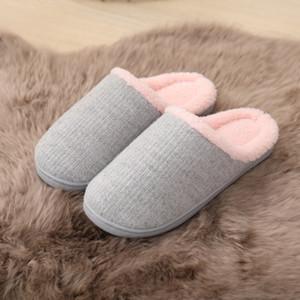 Inverno pantofole New Soft Warm antiscivolo solido di colore lavorato a maglia coperta Pantofole caldo casuale delle donne VT1322