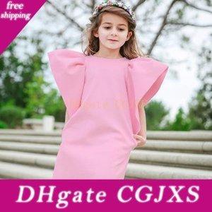 2019 Yeni Moda Kız Elbise H966 Katı Renk Elbise Pileli Elbise Bebek Katı Renk Etek Prenses Giydirme