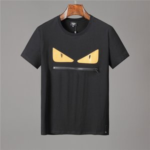 2019 sports d'été nouvelle mode pour hommes T-shirt O-cou à manches courtes conception Hommes brodé coton T-Shirt Men # 899