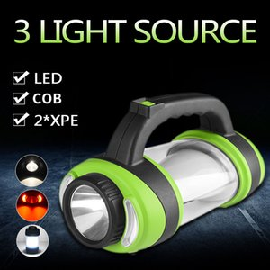 100W Led Portable Spotlight 3000lm Super Bright Led Work Light Rechargeable or 3* Battery for Outdoor Camping