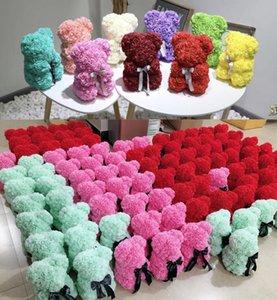 13Style 25CM Rose Teddybär PE Kunststoff künstliche Blumen Foam Soap Rosen-Blumen-Valentinstag-Geschenk-Geburtstags-Weihnachtsdekorationen GGA3753