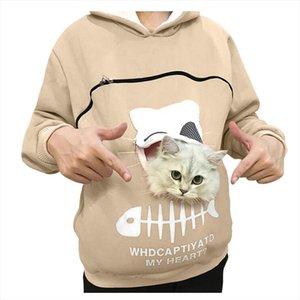 top hoodie Womens Sweatshirt Animal Pouch Hood Tops Carry Cat Breathable Pullover Blouse Drop Shipping Good Quality