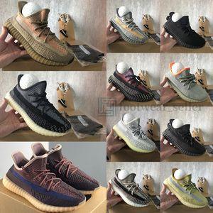 Adidas Yeezy Boost 350 v2 Com Box Abez Eliada Oreo Israfil Cinder Desert Sábio Asriel Reflective Kanye West Mens Running Shoes Mulheres Trainers Sneakers Esportes Tamanho 13