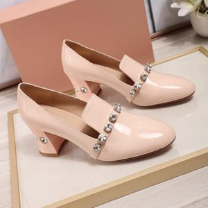 Crystal Fashion Thin Shoes Small Leather Shoes Women Top Ladies Sexy Dress Shoes High Heel 6.5cm High Quality Cowhide Real Leather
