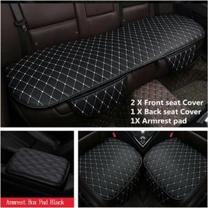 4x vorn hinten Auto-Sitzbezug aus Leder Matte für Auto Stuhlkissen Armlehne Box Pad
