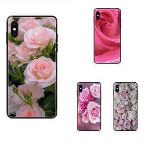 Для Apple iPhone 11 12 Pro 5 5S SE 5C 6 6S 7 8 X XR XS Plus Max Прекрасный Pink Rose Top Подробная Popular Case