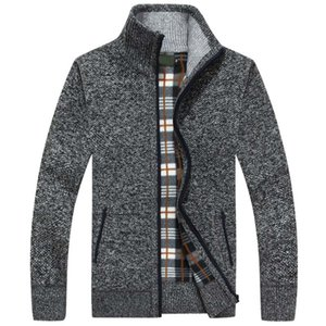 2020 New Autumn Winter Men Sweater Warm Cashmere Wool Zipper Cardigan Men Coat Dress Casual Knitwear Male Clothes X0923 X0923