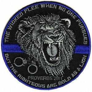 Top-Qualität Der Gerechte Bold As A Lion Patch für Law Enforcement Real Man Chest Jacke Eisen auf Flecken-freies Verschiffen kNMZ #