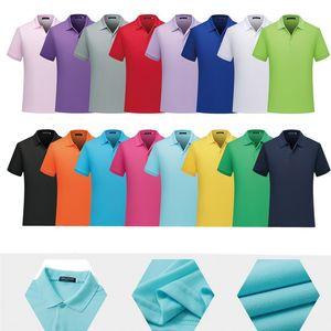 Unisex Teamwear Casual Polo Tişörtler Kısa Kollu T-Shirt Erkekler Kadınlar Slim Fit Katı teslimi aşağı Yaka Etkinlikler Boş Tees Grubu Düz Tee