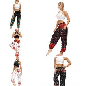 2020 Laterne Anti-Moskito-Anti-Moskito-Sommerblume Digitaldruck Fitness Yoga Laterne Hosenfrauen im Freien Moskito-Beweis Hose adul