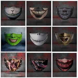 Masken-Halloween-Mouth Weihnachten 3D-Druck Schutz Einstellbare Einfügbare Chip Ear Gürtel Staub- und Haze Partei-Schablone