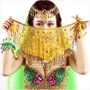 Производительность танец живота лица вуаль Belly Dance Veil 9 цветов
