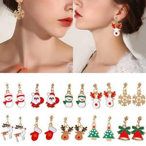 Christmas Earring Pendant Deer Santa Claus Christmas Tree Snowflake Cute Women Earrings Jewelry Best Gifts Girl