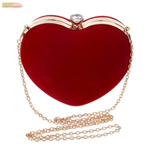 Ljl Heart Shaped Diamonds Women Evening Bags Shoulder Purse Day Clutches Evening Bags For Party Wedding