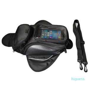 Designer- Motorrad-Tasche Öl Fuel Tank Bag Magnetic Motorrad Sattel Gepäck GPS-Telefon-PVC Bigger Fenster Moto Koffer Für Big Telefon