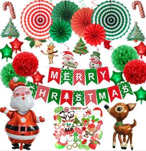 Рождественский шар украшения Elk алюминиевая пленка воздушный шар Рождество Фото Реквизит Надувной Мультфильм Санта-Клаус оленей Новый год Decor Party