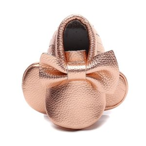 Cute Summer Shoes Baby Girl Shoes Genuine Leather Fringe Bow Soft Soled First Walkers Newborn Toddler Girl Non-slip Footwear