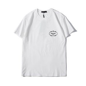 Hot 2020 Flèche Monroe Imprimer Hommes Femmes Designer T-shirts Off Mens Fashion Designer T-shirts manches courtes blanc S-XL W21 PRADA
