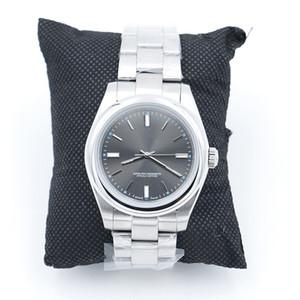 Neue schöne automatische 2813 bewegung 40mm glatte Lünette uhr uhr edelstahl blau lume dunkel rhodium zifferblatt 114300 mens armbanduhren