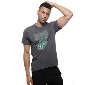 UABRAV nuovi uomini Bodybuilding Sporting Palestre Quick Dry Trainning T-shirt allenamento fitness Esercizio T-shirt in esecuzione camicia Gym