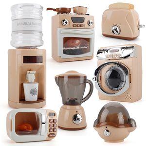 Simulation Creative Kitchen Appliances Set Washing Machine Egg Steamer Water Dispenser A Variety Educational Toy Gift