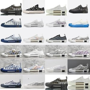 Dior 19FW B23 Наклонная 2020 High Low Top Sneakers марочные платформы Obliques Технические кожаные ботинки мужские ботинки женщин Новая мода Тренеры 3 FUkC #