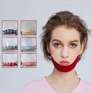 Прозрачные женщины мужчины глухонемой маска для лица Специальный противотуманным дышащий моющийся маска для лица Мода Камуфляж Хлопок Face Cover Reusabl EWF743
