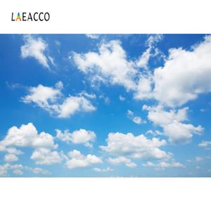 Fotografía escénica natural Laeacco Azul Cielo Nublado Soleado Party Decor Bebé Fondos Foto Telones Photocall Estudio