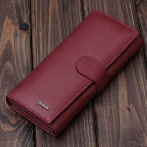 Free Shipping Women Wallet Genuine Soft Leather Wallet Women Fashion Purse High Quality Gift Retail amp; Wholesale Free Shipping