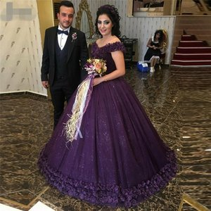 purple v neck robe de soiree princess shining tulle ball gown prom dresses vestido de festa evening dress pageant formal party dress