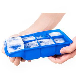 8 Сетки Силиконовые Ice Cube Maker с крышкой льда конфеты торт пудинга шоколада Пресс-формы площади Easy-релиз Shape Ice Cube Подносы Формы DBC BH4110