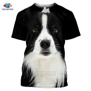 Animado 3d de impresión divertidos de la camiseta Moda Mujeres Hombres camiseta Border Collie perro Los niños de Harajuku Tops T-shirt Camisas divertidas Homme