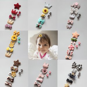 5Pcs Set Cute Cartoon Princess Hairpin Kids Girls Hair Clips Bows Barrette Accessories for Children Hairclip Headdress Hairgrips
