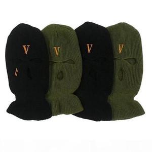 2019 새로운 힙합 V POP STORE 게릴라는 숍 착용 양모 모자에 도적 헤드를 제한하고 냉간 이중 목적 산적 마스크 캡